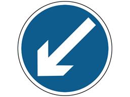 Keep left sign