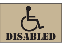 Disabled (logo and text) heavy duty stencil