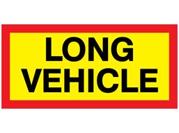 Long Vehicle Warning Sign