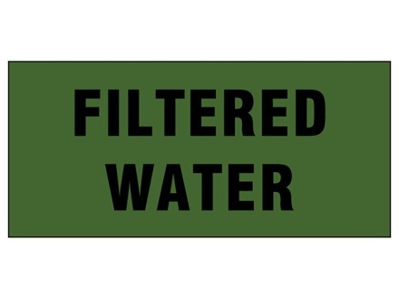 Filtered water pipeline identification tape.
