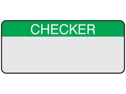 Checker aluminium foil labels.