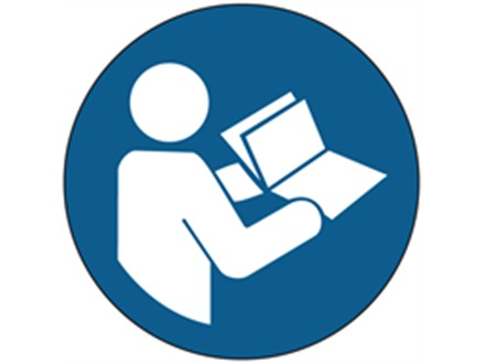 Read manual or handbook symbol labels.