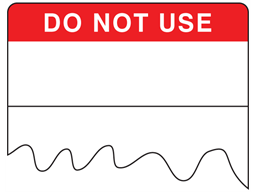 Do not use cable wrap label