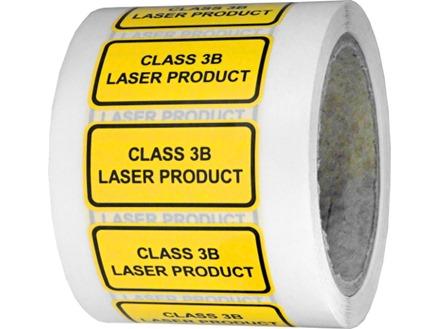 Class 3B laser equipment warning safety label.
