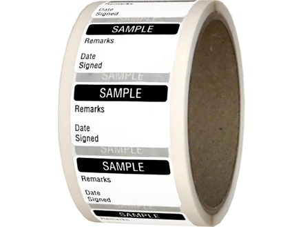 Sample quality assurance label