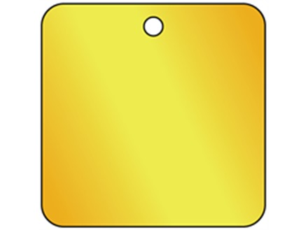 Blank Square Brass Tag