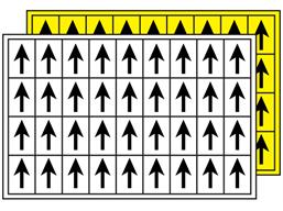 Multipurpose arrow labels, 19mm x 14mm