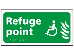 Refuge point sign.
