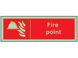 Fire point photoluminescent safety sign