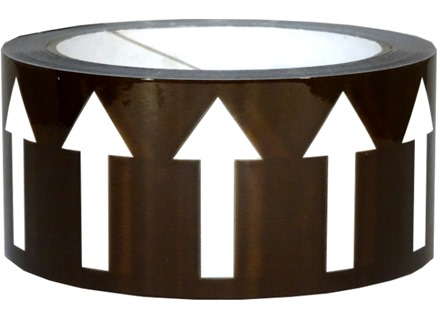 Flow indication tape for mineral oils