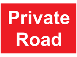Private road sign.