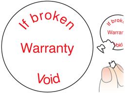 If broken warranty void label