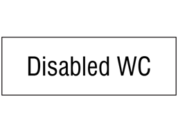 Disabled WC, engraved sign.