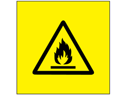 Flammable symbol labels.
