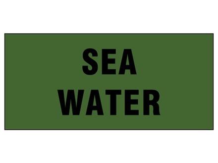 Sea water pipeline identification tape.