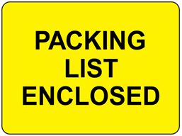 Packing list enclosed fluorescent label
