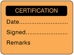 Certification fluorescent label