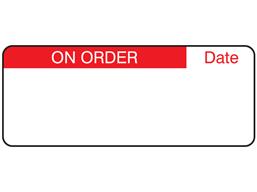 On order label
