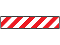 Economy barrier tape, red and white chevron