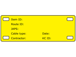 Cable tag, 35mm x 100mm, one colour print