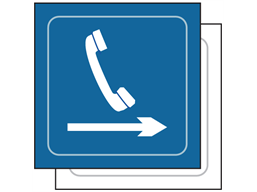Telephone, arrow right symbol sign.