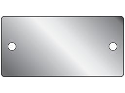 Blank aluminium nameplate, 38mm x 77mm
