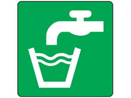 Drinking water symbol label.