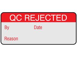 QC rejected aluminium labels.