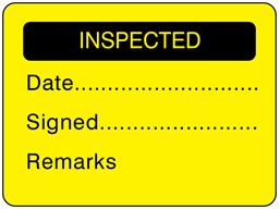 Inspected fluorescent label