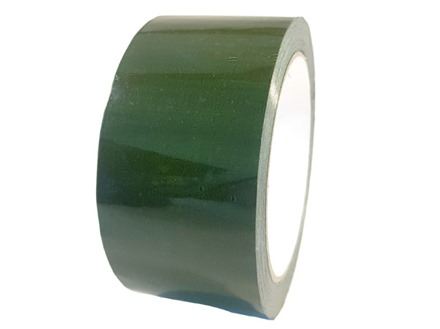 Plain green pipeline identification tape.