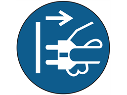 Isolate, switch off supply symbol label
