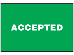 Accepted sign.