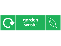 Garden waste WRAP recycling signs