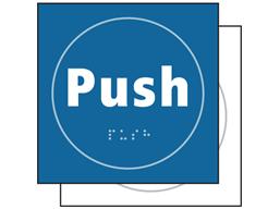 Push symbol sign.