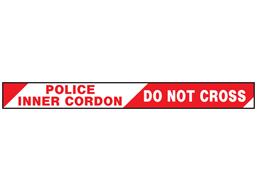 Police inner cordon, do not cross barrier tape
