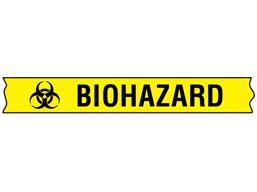 Biohazard COSHH tape.