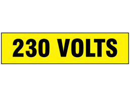 230 Volts label
