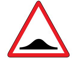 Road humps sign