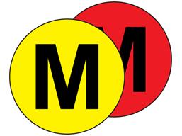 Aisle floor markers, M