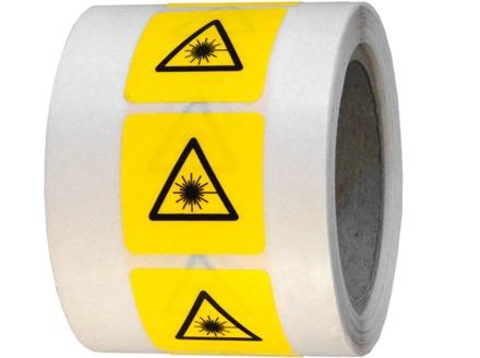 Laser symbol labels.