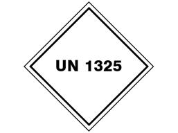 UN 1325 (Flammable solid organic e.g. ethanol ) label.