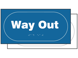 Way out sign.