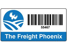 Logo/Full Design Barcode Label (25 x 50mm)