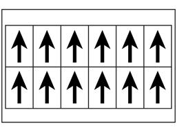 Multipurpose arrow labels, 38mm x 21mm