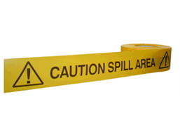 Caution spill area barrier tape