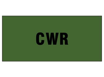 CWR pipeline identification tape.