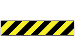 Black and yellow striped flagging tape