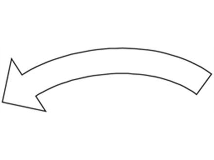 Anti- clockwise white arrow label