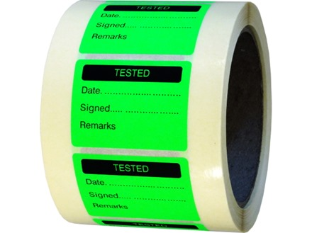 Tested fluorescent label