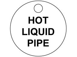 Custom engraved tag, 33mm diameter, three line text